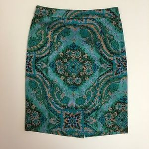 J. Crew Skirts - J CREW Printed Pencil Skirt In Sateen Dot factory